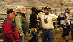 The Late Doug Miller at the 2006 Indoor Archery League