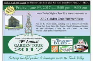 Tooele County Master Gardeners' 19th Annual Garden Tour @ Benson Grist Mill @ Benson Grist Mill | Stansbury Park | Utah | United States