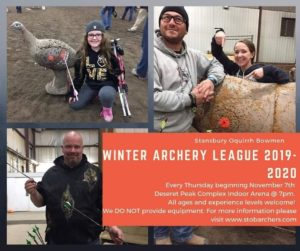 Stansbury Oquirrh Bowmen Winter Archery League 20 - 21 @ DPC Indoor Arena