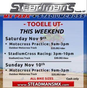 Steadman's MX Park Practice @ Steadman's MX Park